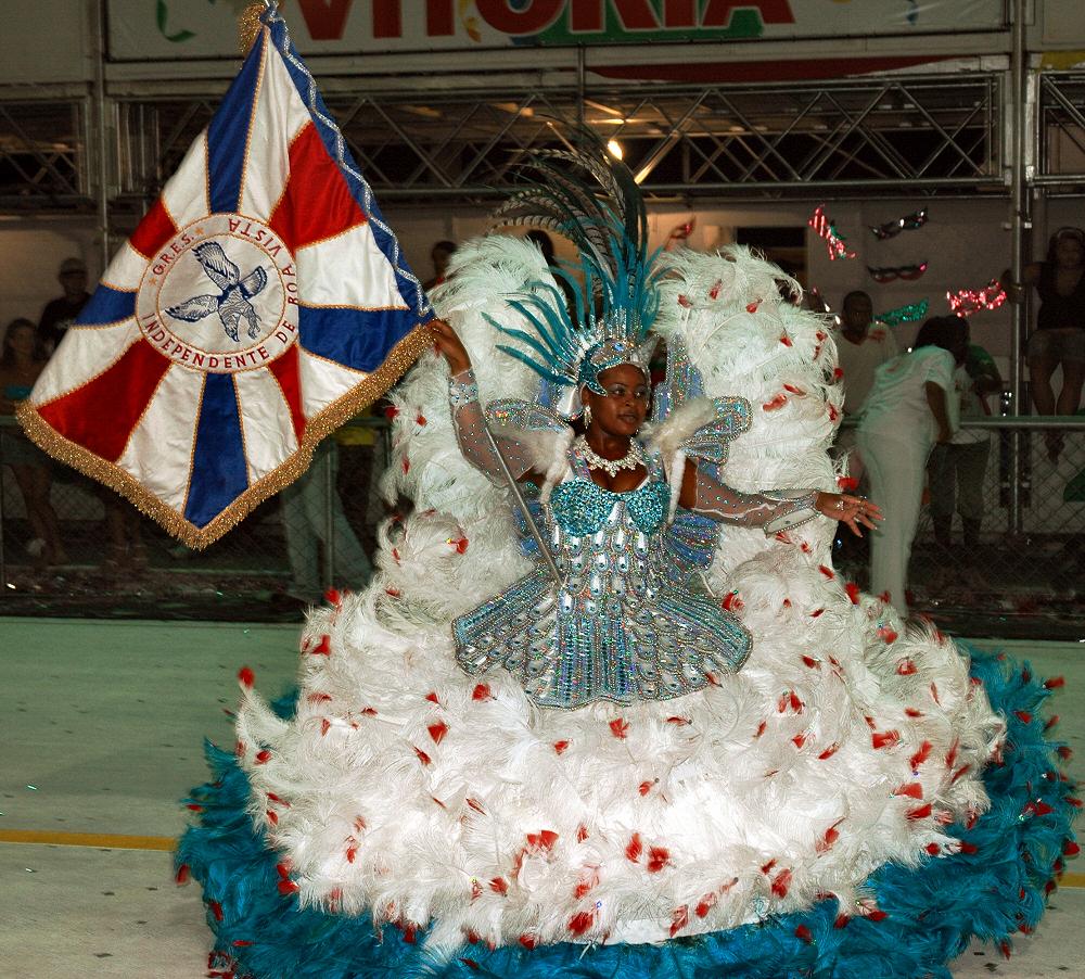 Carnaval 2007 Vitória - Porta-Bandeira da escola Boa Vista
