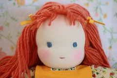 beautiful face (UncommonGrace) Tags: birthday orange yellow handmade sewing waldorfdoll sixyearsold