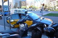 El taxi que nos deja en la Diagonal (10:10)