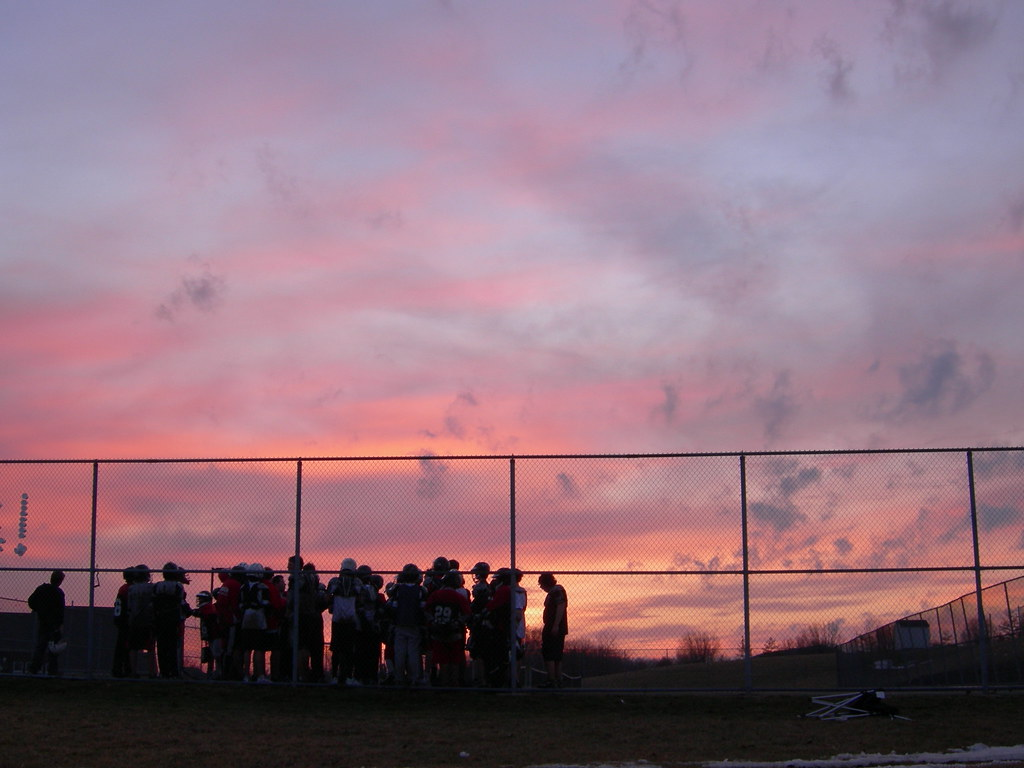 Sunset over lacrosse