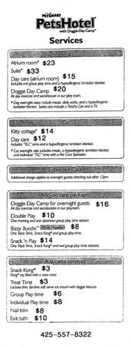 PetsHotel Issaquah prices