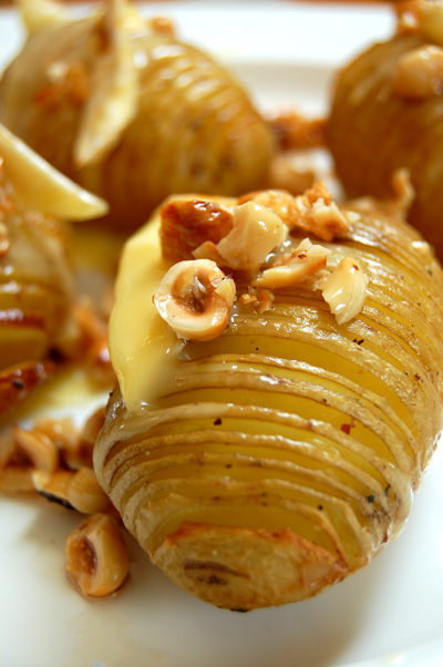 hasselback potatoes with camembert and hazelnut dressing© by haalo