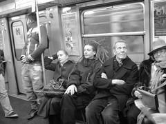 intruso (aghiasophie) Tags: train underground metro rasta sconosciuto indifferenza passeggeri intruso
