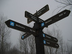Signs on the GAT trail