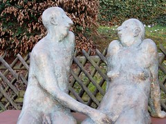couple (hatschiputh) Tags: sky sculpture art naked couple paar copper nudity blus kupfer remstal strmpfelbach