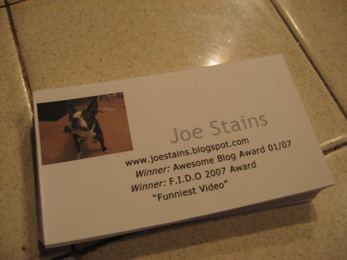 every dog needs his own business cards!