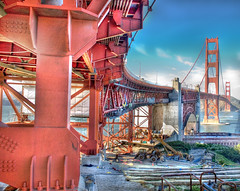 golden deconstruct (patrix) Tags: sanfrancisco bridge point golden bay construction gate raw fort crane steel landmark goldengatebridge single goldengate bolts fortpoint presidio deconstruction sfbay tonemapped slickrframe