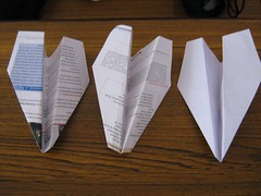 Open paper airplane design by vivekkhurana on Flickr!