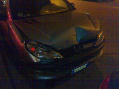 my peugot 206 crashed