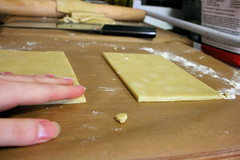 Blueberry Hand Pies, forming dough