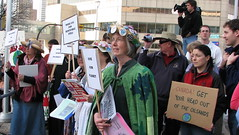 Photo of Raging Grannies in the crowd