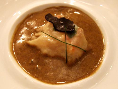 l'Aubergade (Puymirol, France) - Lobster Ravioli w/ Black Truffle
