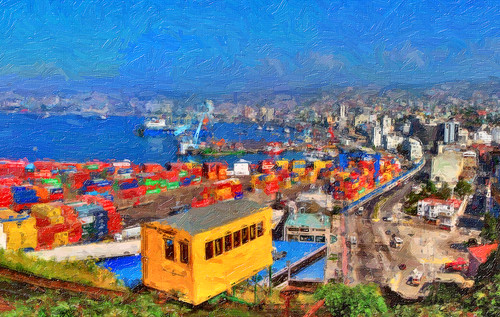 Valparaiso, from Playa Ancha.