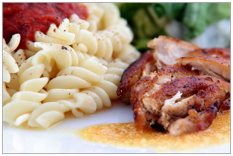 Lunch : Pasta & Chicken