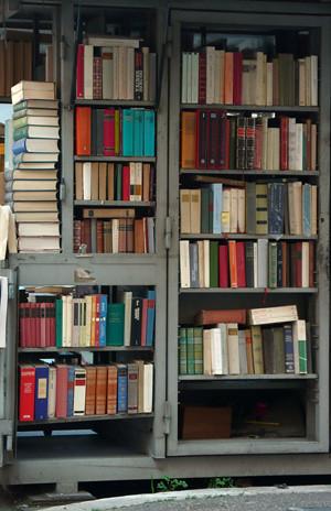 Mercadillo de libros en Roma