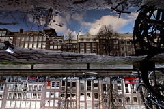 One + One = Two (Photochiel) Tags: street reflection 20d pool amsterdam puddle canal reflex shiny bikes photochiel 1224mm keizersgracht canalhouses goodfella