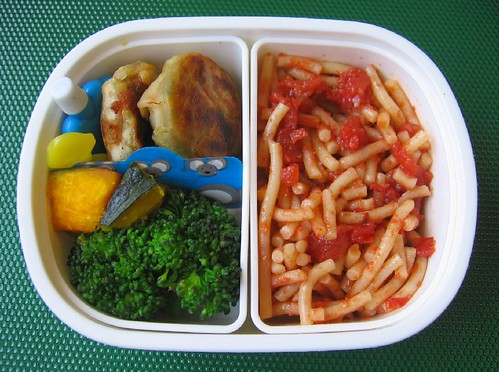 Speedy puttanesca lunch for toddler