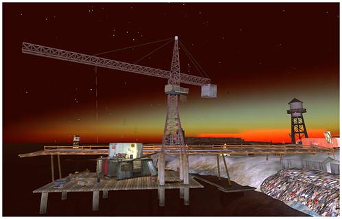 Crane on Calleta pier
