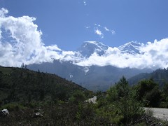 Huascarán innevato da Yungay Huaraz Perù Cañon del Pato