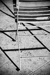 chair shadow (Liquid Image) Tags: blackandwhite bw white abstract black art lines museum architecture digital nikon geometry curves getty d100 gettycenter jpaulgetty ultrachrome