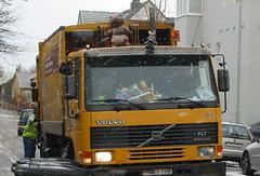 Decorated Garbage Truck (Observe The Banana) Tags: trash truck iceland garbage dolls reykjavik plush pokemon waste figures sanitation groundscore