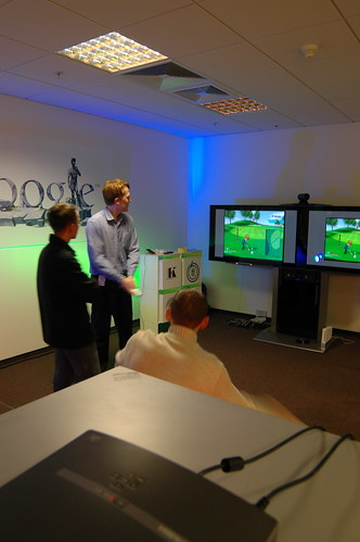 Wii Golf at the Google Moscow office
