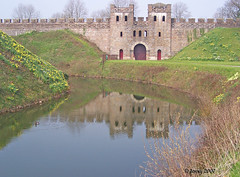 Reflection in moat.. (welshlady) Tags: reflection building castle history water architecture memorial gate searchthebest medieval norman 100views 200views fortification bandstand moat romans cardiffcastle northgate standingovation helluva captainscott welshlady supershot 10faves theworldthroughmyeyes mywinner abigfave welshflickrcymru goldenphotographer