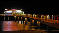 The Mikado teahouse pier in Timmendorfer Strand at  night (Ostseetroll) Tags: deu deutschland geo:lat=5399466851 geo:lon=1079227959 geotagged mikadoteehaus schleswigholstein timmendorferstrand ostsee balticsea nachtaufnahme nightshot