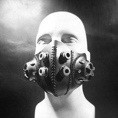 Available in our shop very soon. #Cyberpunk #CyberGoth #postapocalyptic #postapocalypse #steampunk #steampunkmask #leathermask #handmade #LARP #dieselpunk #leather #Darkart #costume #larping (tovlade) Tags: face mask cyberpunk cyber goth make up goggles girl punk postapocalyptic postapocalypse black steampunk leather hand made larp cybergoth dieselpunk plague doctor