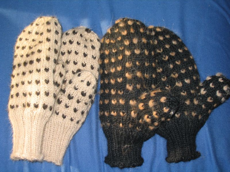 Alpaca Thrummed Mittens (100% alpaca wool and thrums)