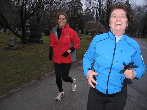Training Run in Mt. Pleasant Cemetery