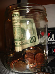 swear jar:a jar full of money!