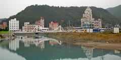 Jeongdongjin (yewenyi) Tags: trip vacation lake holiday reflection skyline buildings town asia hill korea southkorea eastasia   jeongdongjin gangwondo  gangwon   jeongdongri   touraroundtheworld