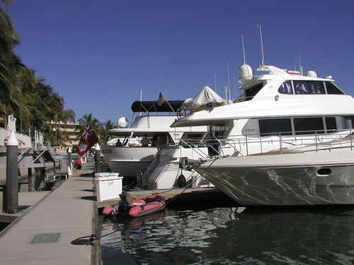 Opulent yachts at Paradise