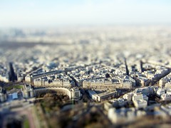 Paris February 2004 03 (Littlepixel) Tags: paris eiffel tiltshift miniature fake photoshop mini lensblur toytown railwaylayout fts