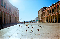 Midday at the Prokurative Square (Mediterraneo) Tags: colour slr architecture gold kodak croatia split adriatic exakta dalmatia vx1000 30mm lydith meyeroptikgorlitz