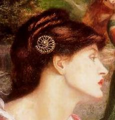 Rossetti, The Bower Meadow (detail) 1871-72