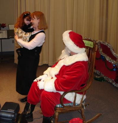 Emma and Santa 2006