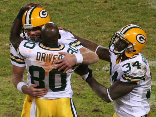 Donald Driver and Vernand Morency Thanking Brett Favre