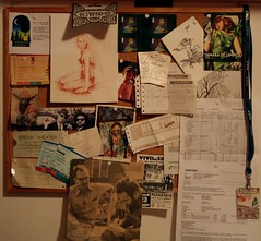 my inspiration board (*maya*) Tags: board stickers memories bulletinboard ricordi lavagna bacheca inspirationboards