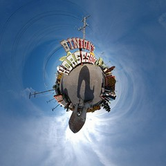 Planet Las Vegas - Neon Graveyard (Sam Rohn - 360 Photography) Tags: travel panorama signs abandoned architecture circle geotagged photography shoe photo interesting nikon neon exterior stitch lasvegas nikond70 decay nevada 360 panoramic photograph sphere signage planet antoinedesaintexupry googie escher filmmaking stitched filmproduction 360x180 lepetitprince spherical invisiblecities scouting 360 littleprince escheresque mcescher 360x180 filmlocation locationscouting hyperbolic stereographic planetoid neonboneyard neongraveyard locationscout flexify 105mmf28gfisheye filmlocations silverslipper littleplanet polarpanorama filmscouting nylocations samrohn littleplanets stereographicprojection smallplanets locationscouts thelitttleprince filmscout geo:lat=3617736 geo:lon=115134581