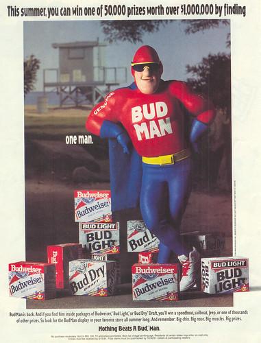 Vintage Ad #120 - Bud Man!