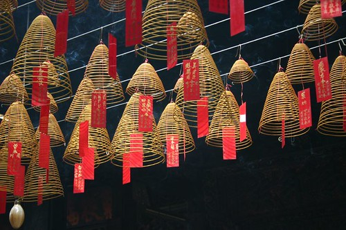 Incense spirals. Ho Chi Minh City. December 2006.