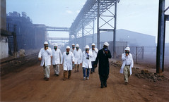 Acid plant, Zambia (mm-j) Tags: africa archive 1999 mining copper zambia contaxt2 copperbelt scanfromprints