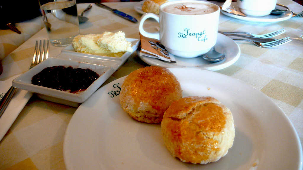 Scones and Cappucino