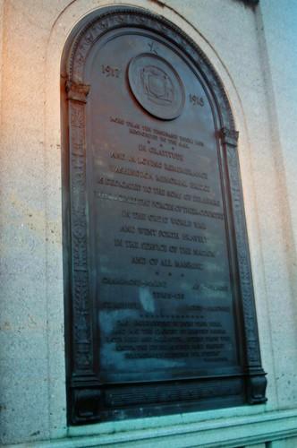Washington Memorial Bridge Plaque