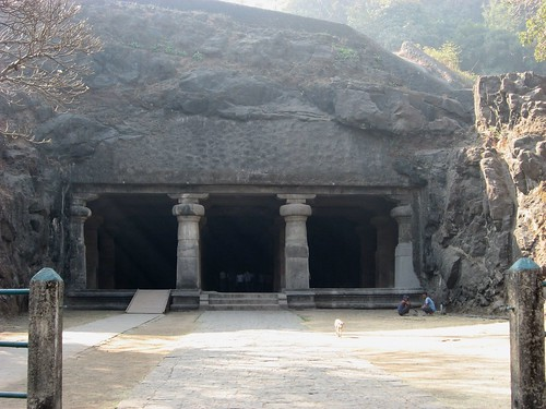 Elephanta Caves front view