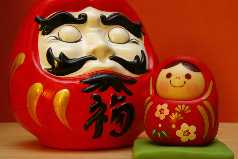 daruma wood japanese doll unazukin