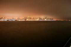 Fog Rain Mist (pmarella) Tags: longexposure urban usa mist rain fog nightlights manhattan pmarella hudsonriver cityskyline drizzle crepuscular donttrythisathome downtownmanhattan whileyouweresleeping throughmyglasseye manhattanonthehudson wanderingatnight cloudsovermanhattan myeyeshaveseenthis yagottaloveit
