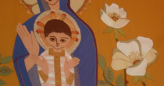 Banner, Metropolitan Cathedral (marc e marc) Tags: flower liverpool geotagged jesus 2008 08 capitalofculture metropolitancathedral liverpoolcapitalofculture2008 figuresof08 geo:lat=5340440246037899 geo:lon=2968904972076416